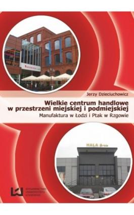 Wielkie centrum handlowe w przestrzeni miejskiej i podmiejskiej - Jerzy Dzieciuchowicz - Ebook - 978-83-7525-737-3