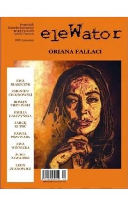 eleWator 25 (3/2018) - Oriana Fallaci - Praca zbiorowa - Ebook