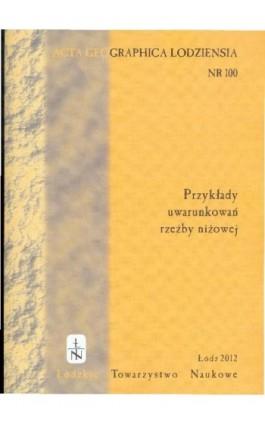 Acta Geographica Lodziensia t. 100/2012 - Praca zbiorowa - Ebook