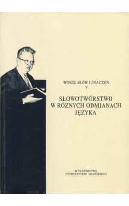 Wokół słów i znaczeń V - Ebook - 978-83-7865-094-2