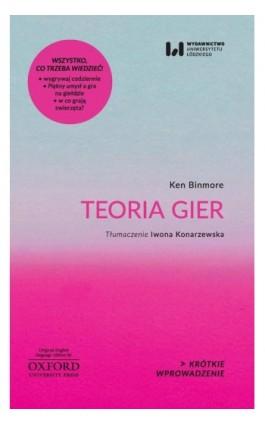 Teoria gier - Ken Binmore - Ebook - 978-83-8088-595-0