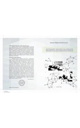 AKTYWNOŚĆ FIZYCZNA NA STOŁACH REHABILITACYJNO-REKONDYCYJNYCH - Joanna Krawczyk - Ebook - 978-83-61304-88-3