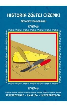 Historia żółtej ciżemki Antoniny Domańskiej. Streszczenie, analiza, interpretacja - Danuta Anusiak - Ebook - 978-83-8114-797-2