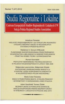 Studia Regionalne i Lokalne nr 1(47)/2012 - Ebook
