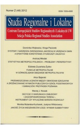 Studia Regionalne i Lokalne nr 2(48)/2012 - Ebook