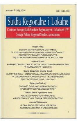 Studia Regionalne i Lokalne nr 1(55)/2014 - Grzegorz Gorzelak - Ebook