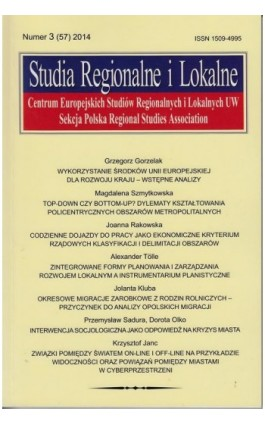 Studia Regionalne i Lokalne nr 3(57)2014 - Grzegorz Gorzelak - Ebook