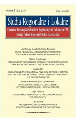Studia Regionalne i Lokalne nr 2(60)/2015 - Grzegorz Gorzelak - Ebook