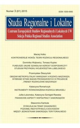 Studia Regionalne i Lokalne nr 3(61)/2015 - Grzegorz Gorzelak - Ebook