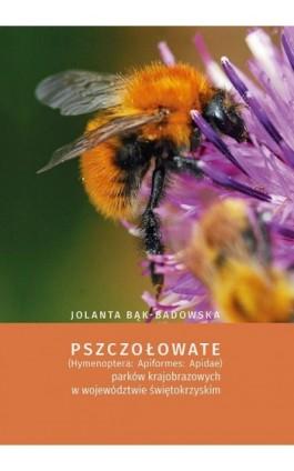Pszczołowate (Hymenoptera: Apiformes: Apidae) parków krajobrazowych w województwie świętokrzyskim - Jolanta Bąk-Badowska - Ebook - 978-83-7133-730-7