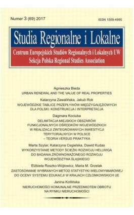 Studia Regionalne i Lokalne nr 3(69)/2017 - Agnieszka Bieda - Ebook