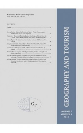 Geography and Tourism 2019 volume 7 number 1 - Ebook