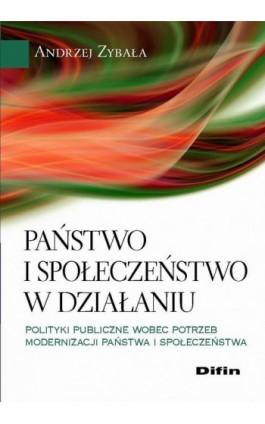 Państwo i społeczeństwo w działaniu. Polityki publiczne wobec potrzeb modernizacji państwa i społeczeństwa - Andrzej Zybała - Ebook - 978-83-7641-961-9