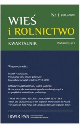 Wieś i Rolnictwo nr 1(186)/2020 - Maria Halamska - Ebook