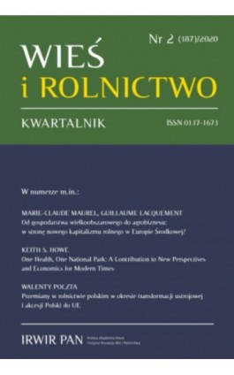 Wieś i Rolnictwo nr 2(187)/2020 - Marie-Claude Maurel - Ebook