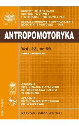 ANTROPOMOTORYKA NR 59-2012 - Praca zbiorowa - Ebook