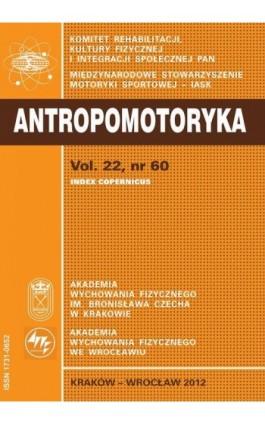 ANTROPOMOTORYKA NR 60-2012 - Praca zbiorowa - Ebook
