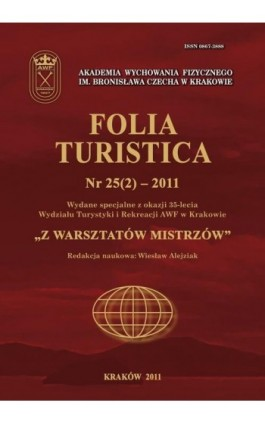 Folia Turistica Nr 25(2) – 2011 - Praca zbiorowa - Ebook