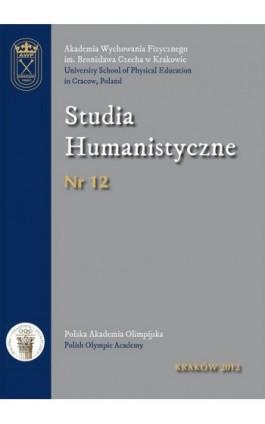 Studia Humanistyczne Nr 12 -2012 - Praca zbiorowa - Ebook