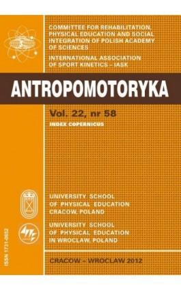 ANTROPOMOTORYKA NR 58-2012 - Praca zbiorowa - Ebook