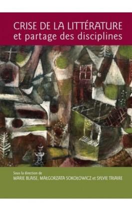 Crise de la littérature et partage des disciplines - Ebook - 978-83-235-4662-7