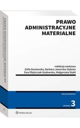 Prawo administracyjne materialne - Zofia Duniewska - Ebook - 978-83-8187-472-4