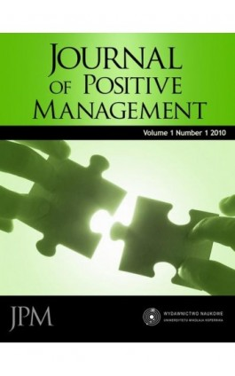 Journal of Positive Management, Vol. 1, No. 1, 2010 - Aldona Glińska-Neweś - Ebook - 978-83-231-2580-8
