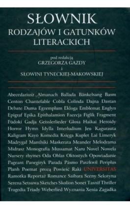 Słownik rodzajów i gatunków literackich - Praca zbiorowa - Ebook - 978-83-242-1178-4