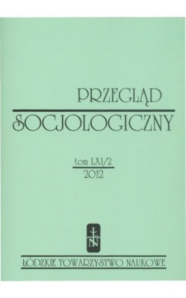 Przegląd Socjologiczny t. 61 z. 2/2012 - Praca zbiorowa - Ebook