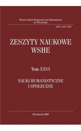 Zeszyty Naukowe WSHE, t. XXVI, Nauki Humanistyczne i Społeczne - Ebook