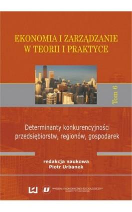 Ekonomia i zarządzanie w teorii i praktyce. Tom 6. Determinanty konkurencyjności przedsiębiorstw, regionów, gospodarek - Ebook - 978-83-7525-961-2