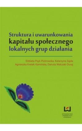 Struktura i uwarunkowania kapitału społecznego lokalnych grup działania - Ebook - 978-83-7969-319-1