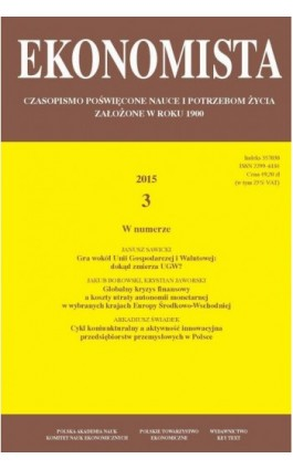Ekonomista 2015 nr 3 - Praca zbiorowa - Ebook
