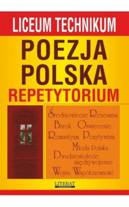Poezja polska. Repetytorium - Anna Skibicka - Ebook - 978-83-7774-498-7