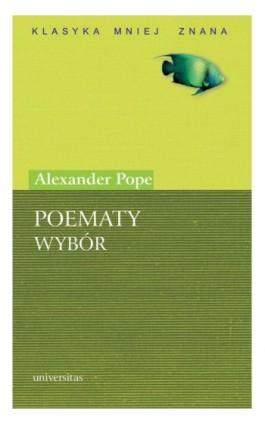 Poematy. Wybór - Alexander Pope - Ebook - 978-83-242-1134-0