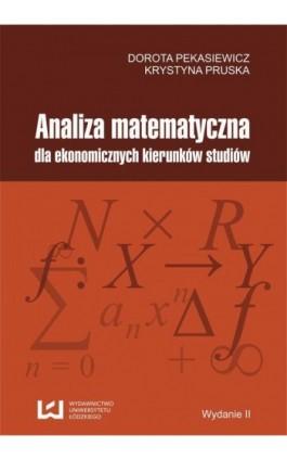 Analiza matematyczna dla ekonomicznych kierunków studiów - Ebook - 978-83-7525-968-1